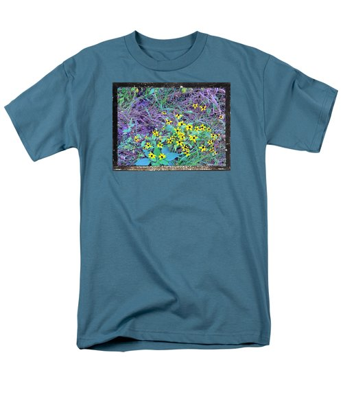 Flowers Gone Wild Men's T-Shirt  (Regular Fit) by Shirley Moravec