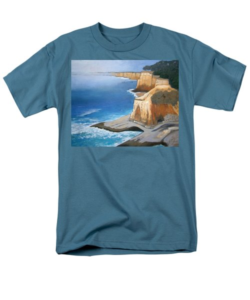Men's T-Shirt  (Regular Fit) featuring the painting Fog Burning Off by Gary Coleman