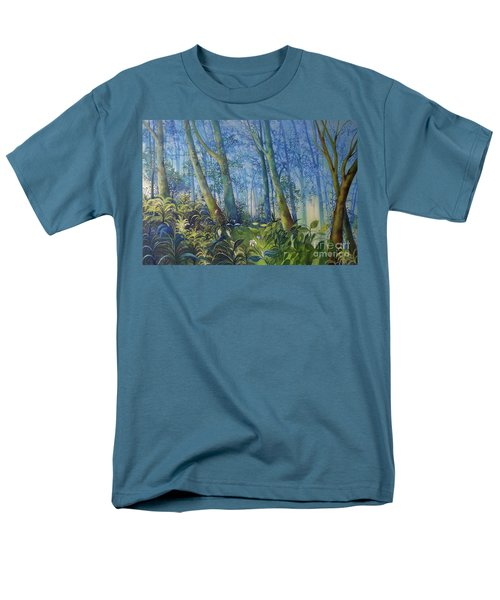 Follow Me Oil Painting Of A Magic Forest Men's T-Shirt  (Regular Fit) by Maja Sokolowska