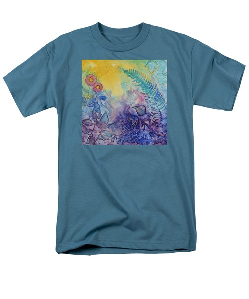 Men's T-Shirt  (Regular Fit) featuring the painting Forest Light by Nancy Jolley