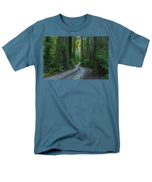 Forest Road. Men's T-Shirt  (Regular Fit) by Ulrich Burkhalter