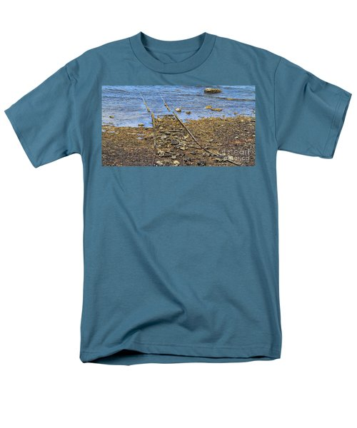 Men's T-Shirt  (Regular Fit) featuring the photograph Forgotten Line II by Stephen Mitchell