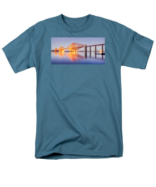 Forth Bridge Sunset Men's T-Shirt  (Regular Fit) by Ray Devlin