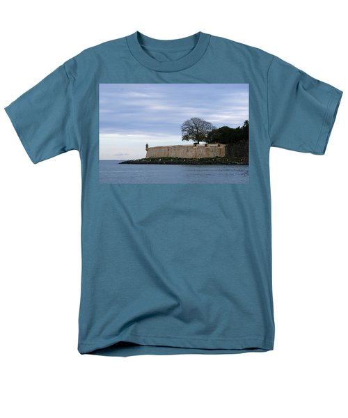 Men's T-Shirt  (Regular Fit) featuring the photograph Fortress Wall by Lois Lepisto