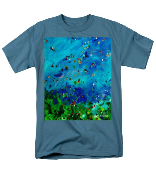 Men's T-Shirt  (Regular Fit) featuring the painting Freelancing  by Reina Resto