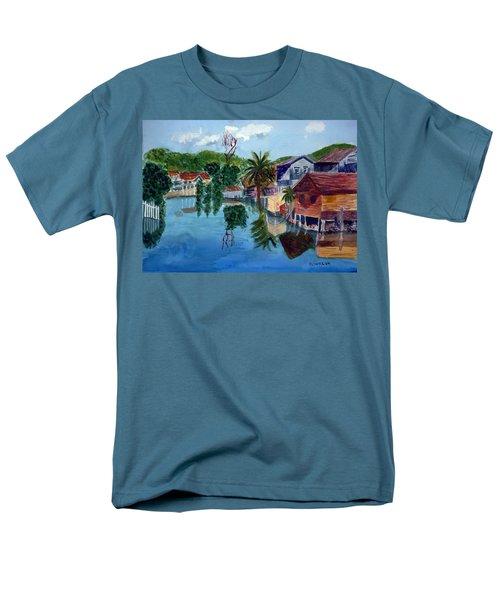 French Harbor Isla De Roatan Men's T-Shirt  (Regular Fit) by Donna Walsh