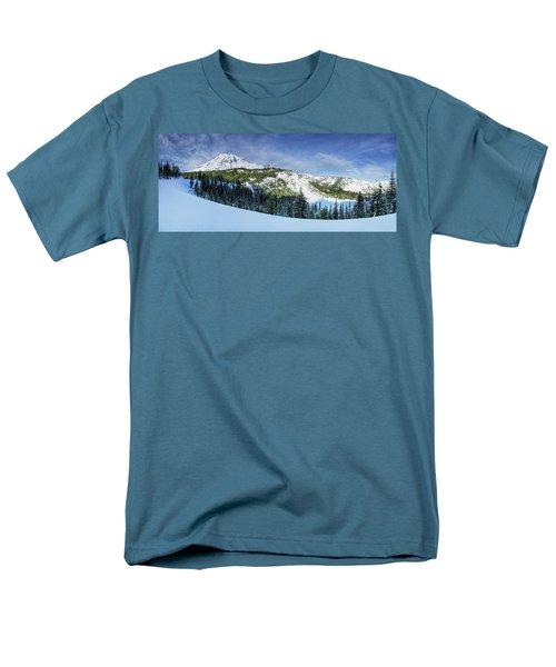 Men's T-Shirt  (Regular Fit) featuring the photograph Fresh Snow At Mount Rainier by Dan Mihai