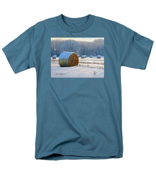 Frigid Morning Bales Men's T-Shirt  (Regular Fit) by Bruce Morrison