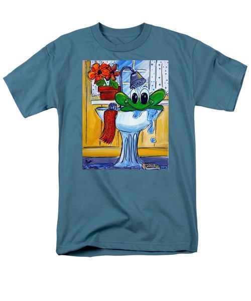 Frog Bath Men's T-Shirt  (Regular Fit) by Terri Einer