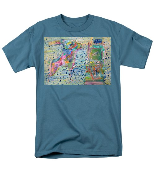 Men's T-Shirt  (Regular Fit) featuring the painting From The Altered City by Fabrizio Cassetta