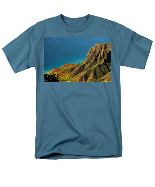 Men's T-Shirt  (Regular Fit) featuring the photograph From The Hills Of Kauai by Debbie Karnes