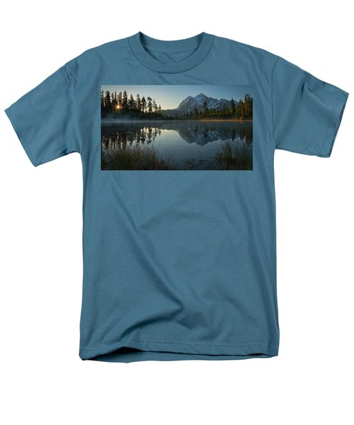 Men's T-Shirt  (Regular Fit) featuring the photograph Frosty Picture Lake by Dan Mihai