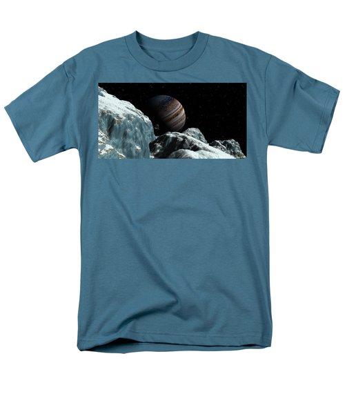 Men's T-Shirt  (Regular Fit) featuring the digital art Frozen Blue Gem by David Robinson