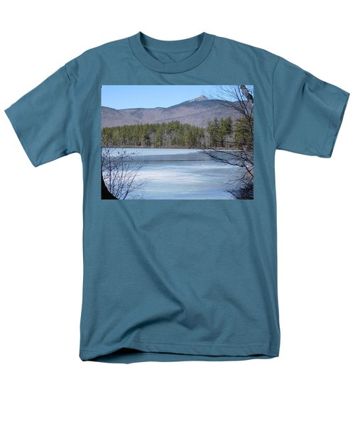 Frozen Lake Chocorua Men's T-Shirt  (Regular Fit) by Catherine Gagne