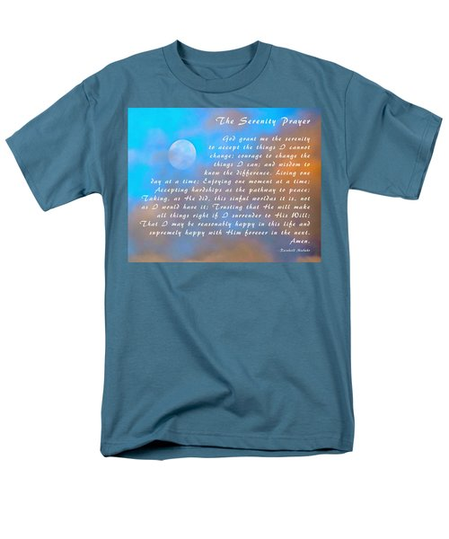 Men's T-Shirt  (Regular Fit) featuring the photograph Full Moon Serenity Prayer Digital by Floyd Snyder