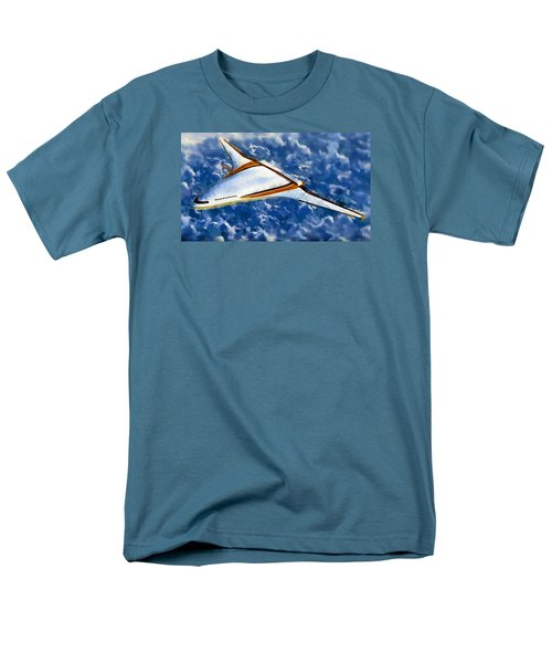 Men's T-Shirt  (Regular Fit) featuring the painting Future Flight by Mario Carini