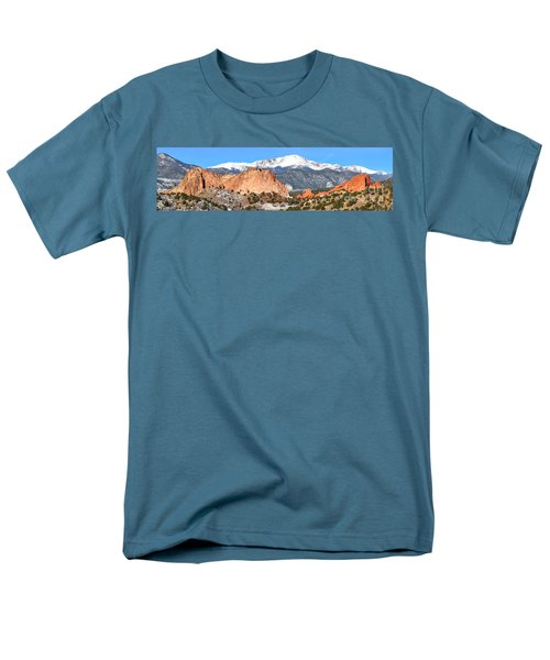 Men's T-Shirt  (Regular Fit) featuring the photograph Garden Of The Gods Panorama by Adam Jewell