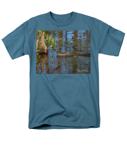 Men's T-Shirt  (Regular Fit) featuring the photograph Gator In Cypress Lake 3 by Gregory Daley  PPSA