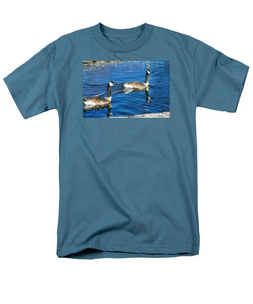 Men's T-Shirt  (Regular Fit) featuring the photograph Geese by Joan Bertucci
