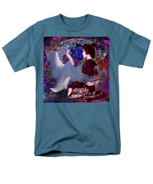Geisha Swan Dance Men's T-Shirt  (Regular Fit) by Joseph Mosley