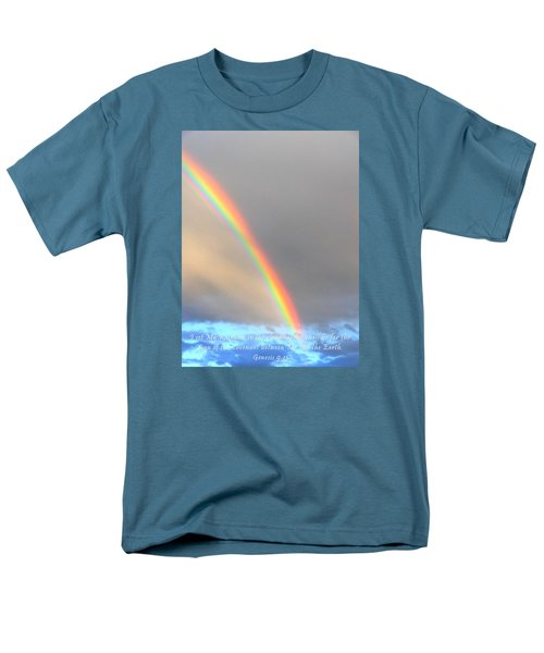 Men's T-Shirt  (Regular Fit) featuring the photograph Genesis Rainbow by Lanita Williams