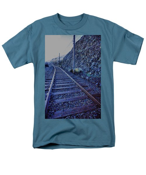Men's T-Shirt  (Regular Fit) featuring the photograph Gently Winding Tracks by Jeff Swan