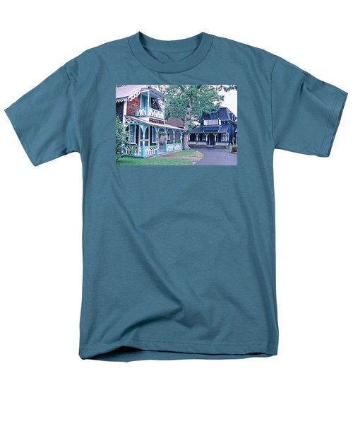 Men's T-Shirt  (Regular Fit) featuring the photograph Gingerbread Houses Oak Bluff Martha's Vineyard by Tom Wurl