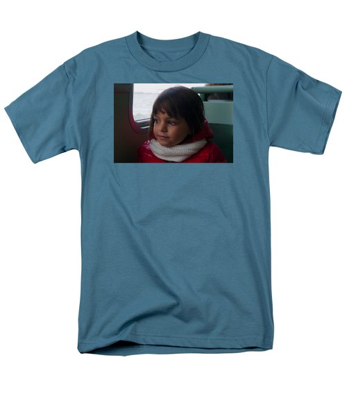 Men's T-Shirt  (Regular Fit) featuring the photograph Girl On A Water Taxi  by Laura Ragland