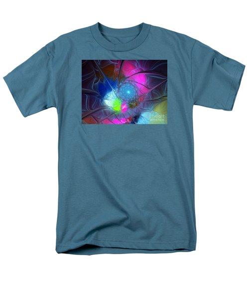 Men's T-Shirt  (Regular Fit) featuring the digital art Girls Love Pink by Karin Kuhlmann