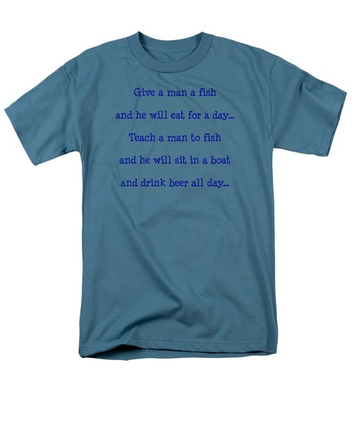 Give A Man A Fish Men's T-Shirt  (Regular Fit) by Pat Cook