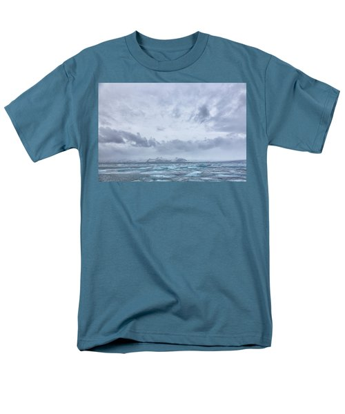 Glacial Lagoon Iceland Men's T-Shirt  (Regular Fit) by Kathy Adams Clark