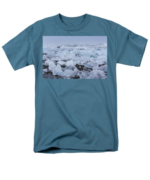 Glacier Ice Men's T-Shirt  (Regular Fit) by Kathy Adams Clark