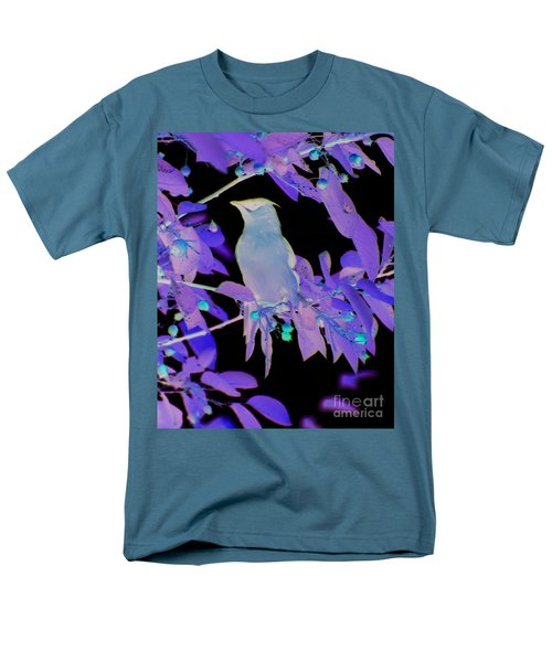 Men's T-Shirt  (Regular Fit) featuring the photograph Glowing Cedar Waxwing by Smilin Eyes  Treasures