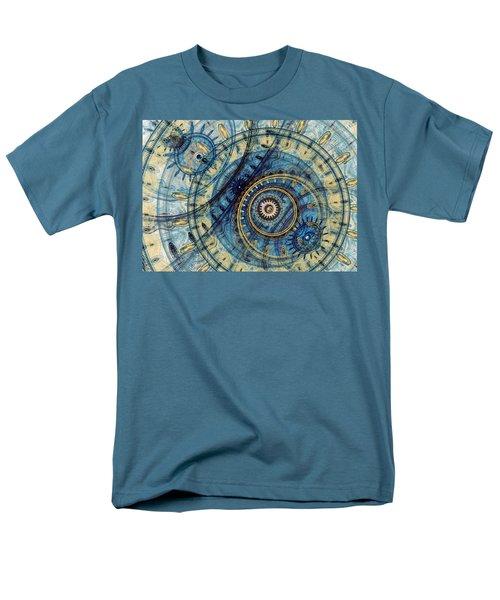 Golden And Blue Clockwork Men's T-Shirt  (Regular Fit) by Martin Capek