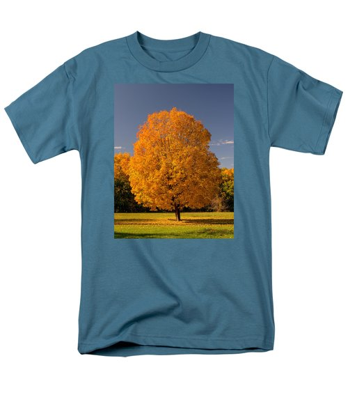 Men's T-Shirt  (Regular Fit) featuring the photograph Golden Tree Of Autumn by Gary Slawsky