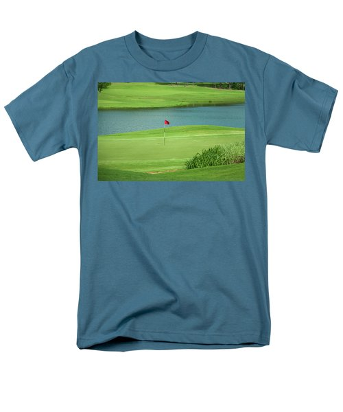 Golf Approaching The Green Men's T-Shirt  (Regular Fit) by Chris Flees