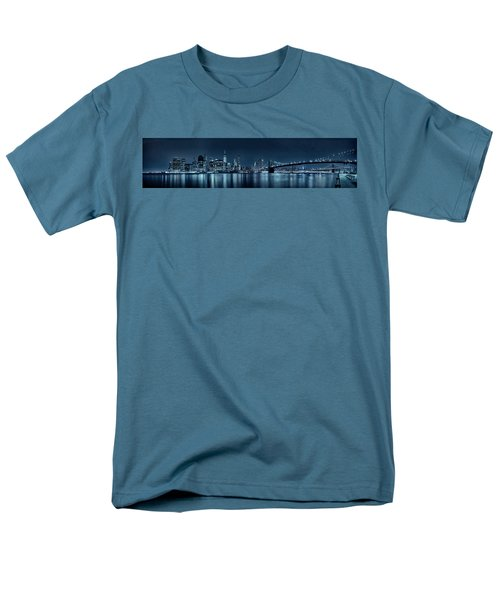 Men's T-Shirt  (Regular Fit) featuring the photograph Gotham City Skyline by Sebastien Coursol