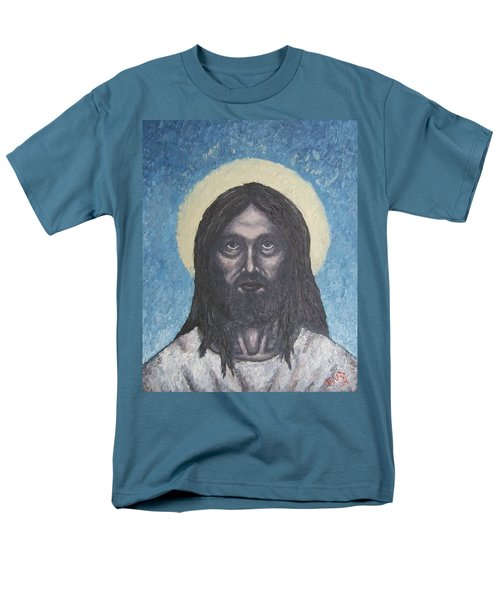 Men's T-Shirt  (Regular Fit) featuring the painting Gothic Jesus by Michael  TMAD Finney