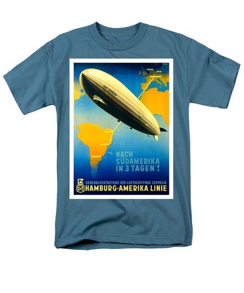 Graf Zeppelin Hamburg Amerika Line II 1936 Ottomar Anton Men's T-Shirt  (Regular Fit) by Peter Gumaer Ogden Collection
