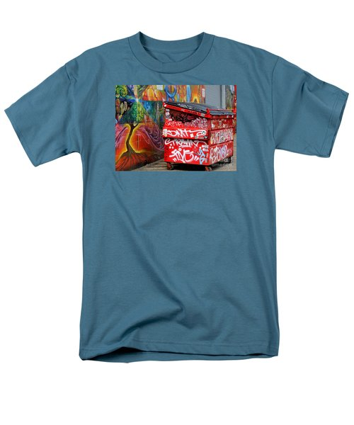 Men's T-Shirt  (Regular Fit) featuring the photograph Grafitti And Trash by Ranjini Kandasamy