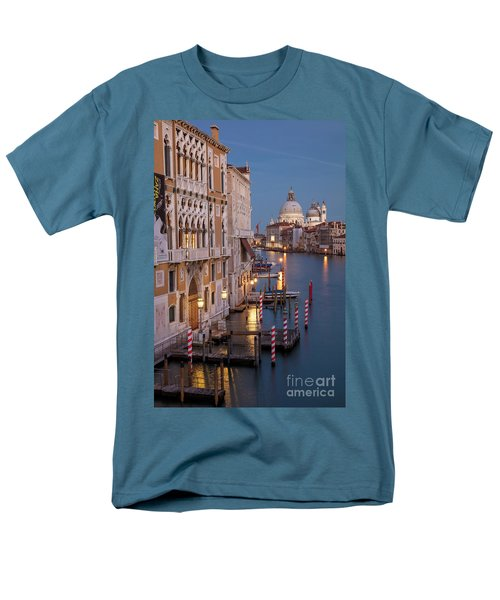 Men's T-Shirt  (Regular Fit) featuring the photograph Grand Canal Twilight II by Brian Jannsen