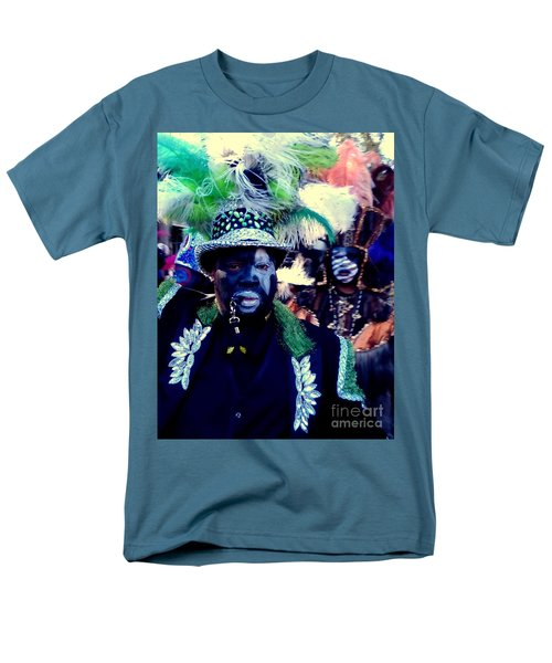 Grand Marshall Of The Zulu Parade Mardi Gras 2016 In New Orleans Men's T-Shirt  (Regular Fit) by Michael Hoard