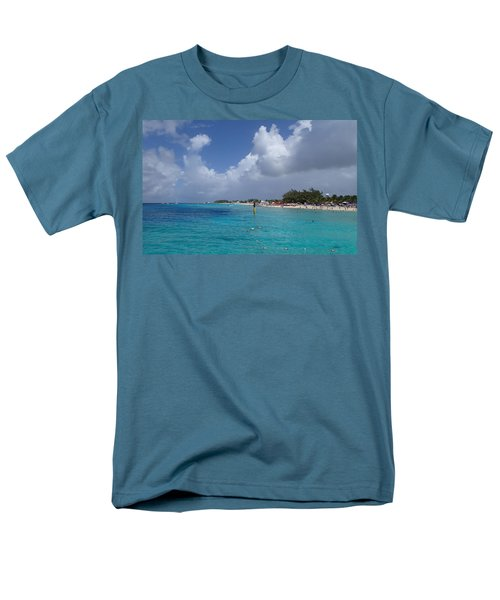 Men's T-Shirt  (Regular Fit) featuring the photograph Grand Turk Beach by Lois Lepisto