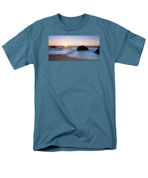 Gray Whale Cove State Beach 3 Men's T-Shirt  (Regular Fit) by Catherine Lau
