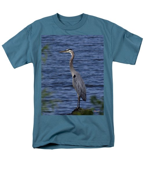 Men's T-Shirt  (Regular Fit) featuring the photograph Great Blue Heron Dmsb0001 by Gerry Gantt