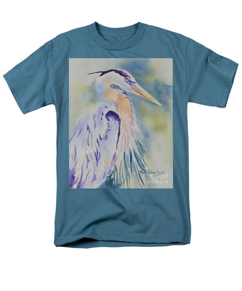 Great Blue Heron Men's T-Shirt  (Regular Fit) by Mary Haley-Rocks