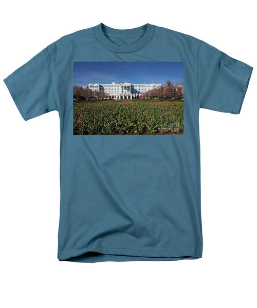 Men's T-Shirt  (Regular Fit) featuring the photograph Greenbrier Resort by Laurinda Bowling