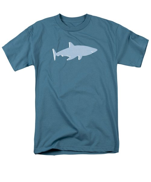 Grey And Yellow Shark Men's T-Shirt  (Regular Fit) by Linda Woods