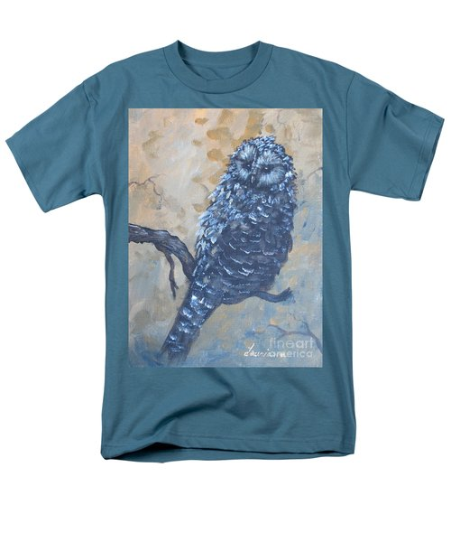 Grey Owl1 Men's T-Shirt  (Regular Fit) by Laurianna Taylor