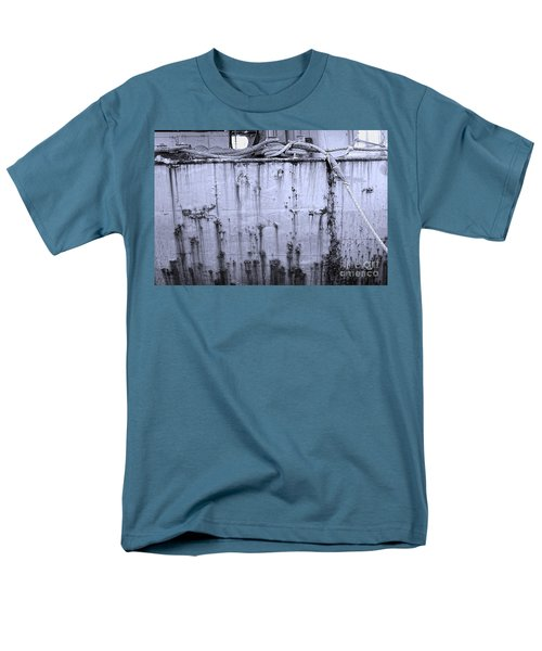 Men's T-Shirt  (Regular Fit) featuring the photograph Grimy Old Ship Hull by Yali Shi